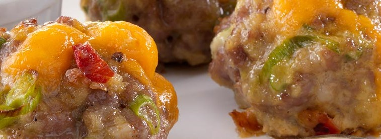 cheddar stuffed sausage balls