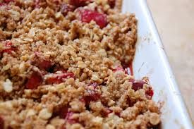 rhubarb crisps